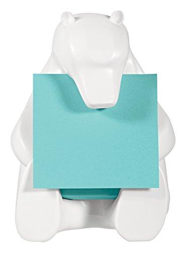 Post-It Pop-up Bear Note Dispenser, White, 3