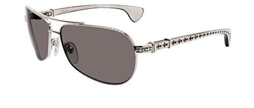 Chrome Hearts - The Beast I - Sunglasses (Shiny Silver-White Ebony Wood, Dark - Aviator Hearts Sunglasses Chrome