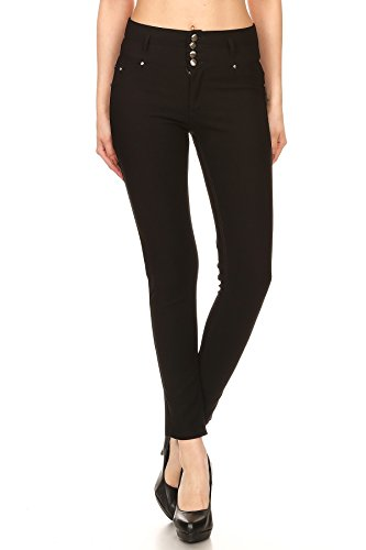 ICONOFLASH Women's High Waisted Stretch Skinny Ponte Knit Pants
