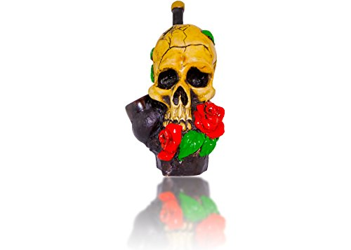 Handmade Tobacco Pipe Horror movies (Skull And Roses)