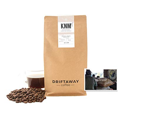 Driftaway Coffee - Fresh Roasted Artisanal Coffee, Light Roast, Whole Beans, Single Origin, 100% Arabica, Gourmet, Roasted in Brooklyn, Perfect for Pourover (11 Ounce), Fruity