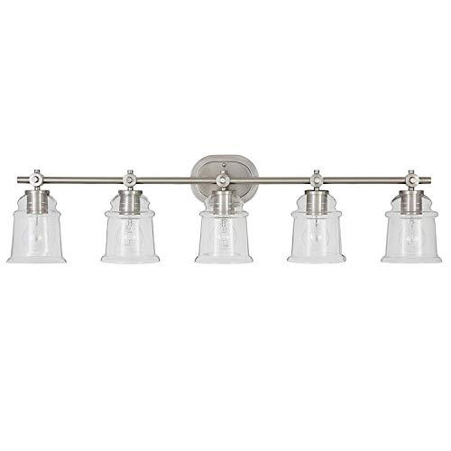 allen + roth Winsbrell 5-Light 9.25-in Brushed nickel Bell Vanity Light