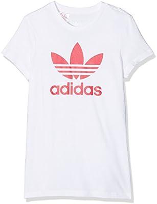 girls adidas t-shirt Originals trefoil print t-shirt top tee 7-8 years