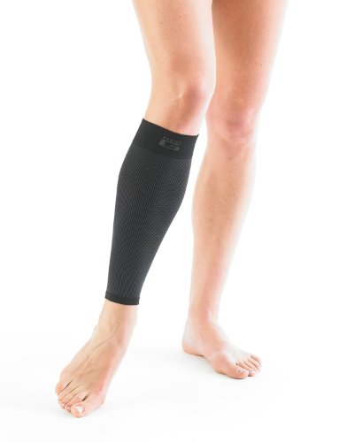 NEO G Airflow Calf/Shin Support - SMALL - Black - Medical Grade Quality sleeve, Multi Zone Compression, lightweight, breathable, HELPS strains, sprains, injured, weak calves/shins - Unisex Brace by Neo-G (Image #3)