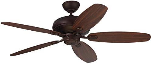 Monte Carlo 5CQM52RB Centro Max Dual Mount Energy Star 52 Ceiling Fan, 5 Blades, Roman Bronze