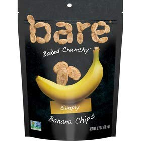 Save$ Bare Baked Crunchy Banana Chips Simply 2.7 Oz Bag x 6 Packs!