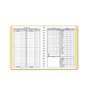 Dome 612 Monthly Bookkeeping Record with Tan Cover and 128 Pages, 11 x 8-1/2 Inches, Wirebound
