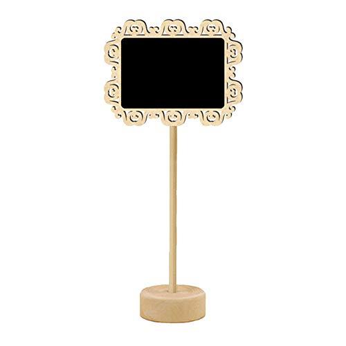 (Indoor Modern Decorative Gardening Pot Wooden Blackboard Home Decoration Crafts Small Blackboard Radium Lace Blackboard)