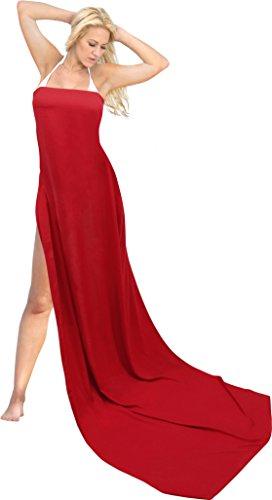 LA LEELA Rayon Wrap Pareo Suit Women Beachwear Sarong Solid 88