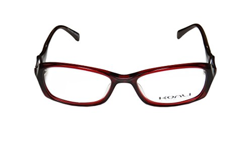Koali 7006s WomensLadies Designer Full-rim EyeglassesSpectacles (49-16-135 Red  Brown)