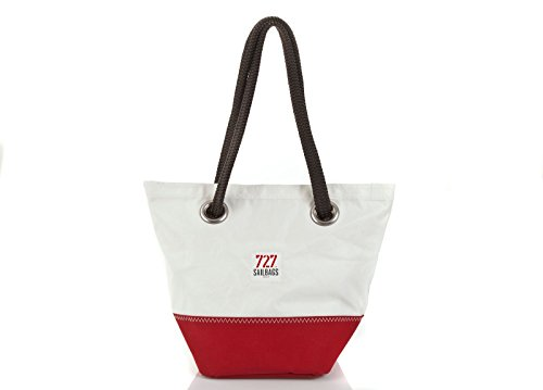 727 sailbags Legende di Dacron Hit Red, No 5 Grey – legdrbrgri5 Borsa di tela pezzo unico