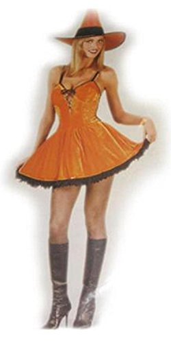 (Fun World Sexy Orange Spice Witch Women's Halloween Costume Size Small/Medium (2-8))