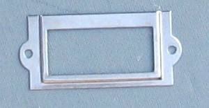 25 Nickel Plated Card Holders 1x1-5/8 Inches W/#2x1/4' Screws