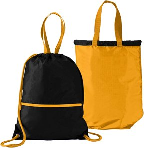 Amazon.com : Black/Gold Reversible Sports Lightweight Drawstring ...