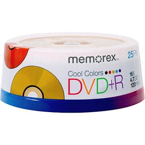 Imation Cool Colors DVD+R X 25 -...