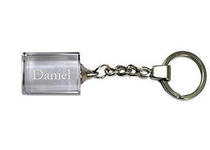 Llavero de cristal con nombre grabado: Daniel: Amazon.es ...