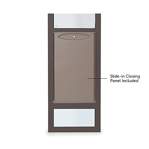 Petsafe freedom aluminum patio panel sliding glass dog and for Sliding glass panel doors