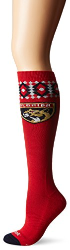 fan products of NHL Florida Panthers Women's SP17 Diamond Knee High Socks, Red, One Size