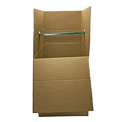Uboxes BOXMINIWAR06 Shorty Space Saving Wardrobe Moving Boxes (Bundle of 6) 20'' x 20'' x 34'' Moving Boxes by Uboxes (Image #4)