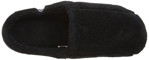 Black Microterry Isotoner Isotoner Hoodback Men's Slippers Men's YzYqnw7