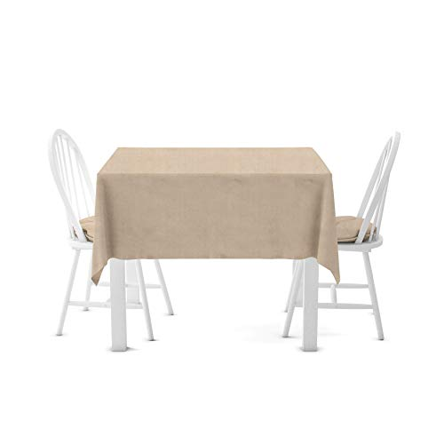 (Firefly Craft Rustic Burlap Square Table Cloth, 60 Inches by 60 Inches, Set of 2)