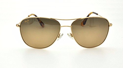 Maui Jim HS247-16 Cliff House Polarized Sunglasses Gold Titanium Frame / Bronze - Sunglasses Faces For Maui Jim Small