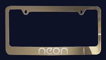 Dodge Neon License Plate Frame (Zinc Metal)