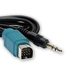 AUX IN UNI Link Cable TO 3.5mm for Alpine KCE-237B 237B Convertor (Alpine Adapter Cable)