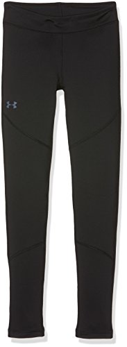 Girls Legging Coldgear (Under Armour Girls' ColdGear Leggings,Black (001)/Apollo Gray, Youth Medium)