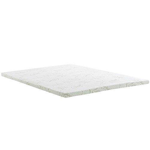 Modway Relax 2 Inch Full Gel-Infused Cooling Certi-PUR US Certified Memory Foam Mattress Topper (Gel Sheet Pro)