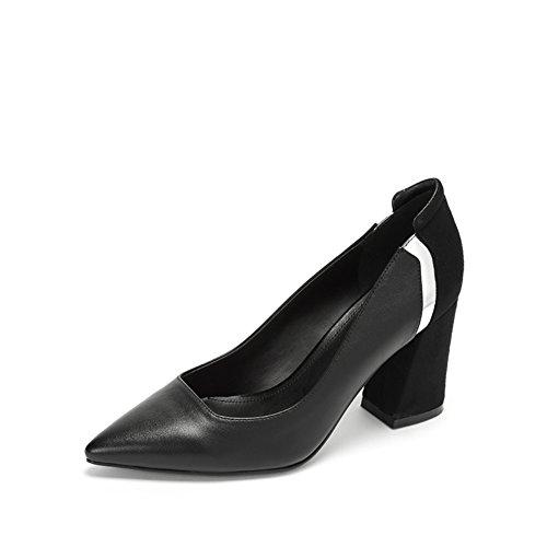 PUMPS Ladys Pointy Heel Schuhe,Freizeit Stitching Schuhe-A Fußlänge=22.8CM(9Inch)