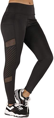 [해외]Ridkodg Womens High Waisted Seamless Leggings - Lace Patchwork Fit TightPockets Athletic Sport Pants / Ridkodg Womens High Waisted Seamless Leggings - Lace Patchwork Fit TightPockets Athletic Sport Pants