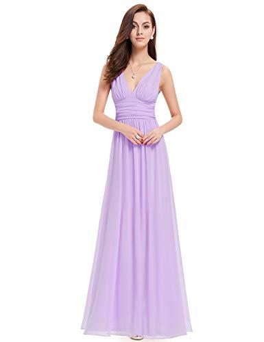Clair Robe pretty Mousseline V De Longue 09016 col Violet Ever Soirée wvm8nN0