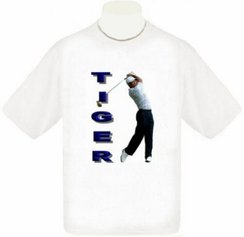 Tiger Woods T-Shirt (Large, White) (Shirt Tiger Woods)