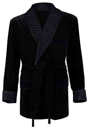 Men's Black Smoking Jacket Large by Regency New York