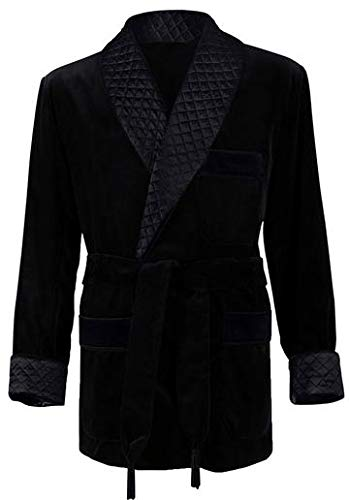 Men's Black Smoking Jacket Medium