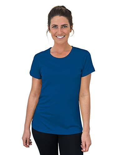 Woolx Women's Addie Soft Lightweight Merino Wool Tee,Eliminates Odor & Sweat, Electric Blue, Medium ()