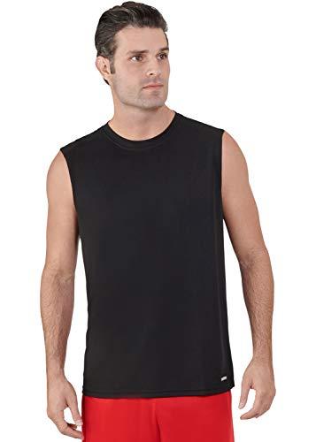 - Russell Athletic Men's Dri-Power Performance Mesh Sleeveless Muscle, Black 3XL