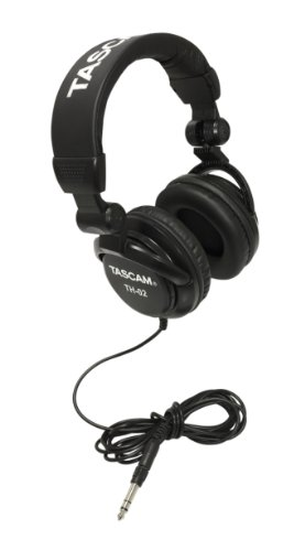 Tascam TH-02 Closed Back Studio Headphones, Black
