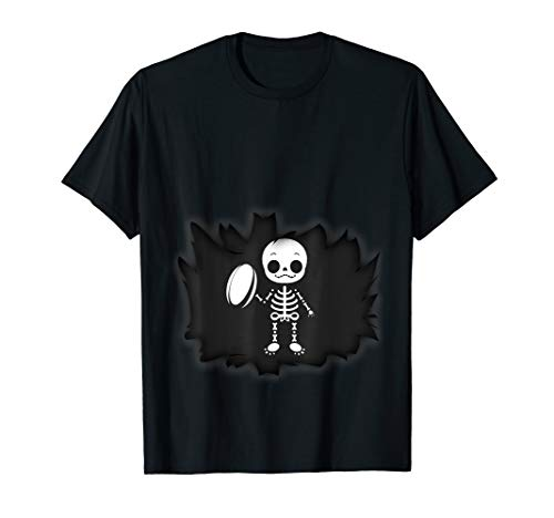 (Baby Rugby Skeleton T-shirt Pregnant)