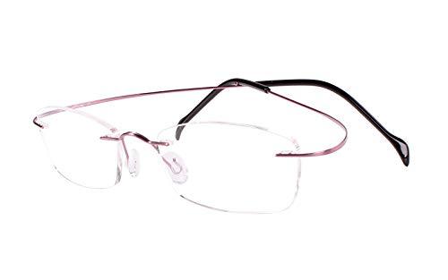 Agstum Customize Prescription Glasses - Pure Titanium Rimless Frame Prescription Hingeless Eyeglasses Rx (Pink, Customized Prescription Lens / ()