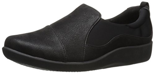 Clarks mujer cloudsteppers Sillian paz Slip-On Loafer Negro (black Synthetic Nubuck)