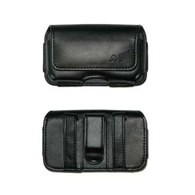 Premium Horizontal Leather Carrying Case Pouch for Blackberry 8300, 8310, 8330, 8350I, 8800, 8830, 9000, 9500, 9530 (Storm), 9630 (Tour) / HTC DASH, Dash 3G, S511 (SNAP), XV6175 (OZONE) / Samsung i617, i907 (Epix) / Motorola Q, Q9C, Q9h, Q9m, Sidekick Sli