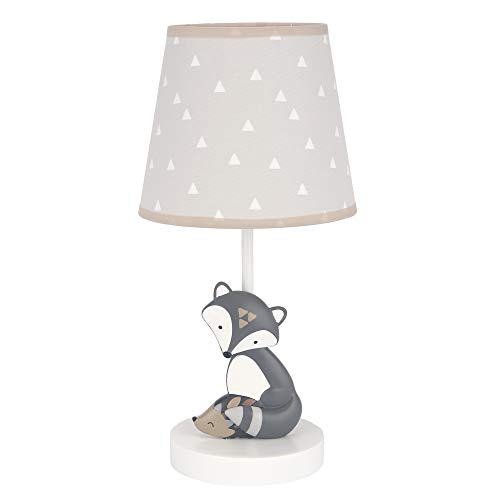 Bedtime Originals Little Rascals Lamp with Shade & Bulb, Grey, Taupe