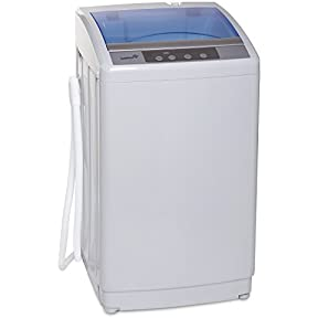 Ivation Portable Automatic Washer/Spinner With Built-in Drain Pump ? Easy To Install & Use ? Washes Up To 17.6 lbs Of Laundry ? Self-Cleaning Feature & Removable Filter For Ultimate Convenience