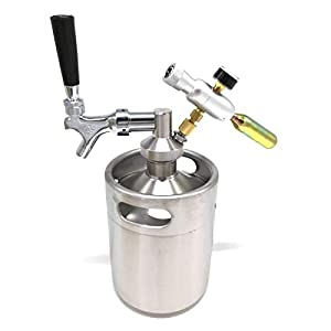Haga Keg Tap Beer Stainless Steel Mini Keg Tap Dispenser With Adjustable Beer Tap for Mini Craft Beer Keg Homebrew Beer Accessories