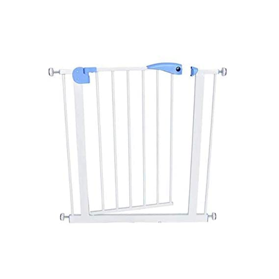 Safe-O-Kid- Pure Metal, 75-85 cm Adjustable Child Safety Stair Barrier/Railing, Two Way Auto-Close Safety Gates- Blue