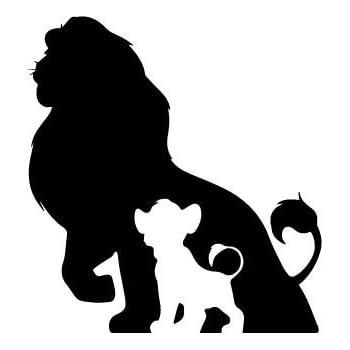 85df0adbdb Amazon.com  The Lion King Fathers Shawdow Decal Vinyl Sticker