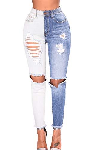 Denim Pants Vita Simple Matita Skinny Pantaloni Fashion Lungo a Personalit Alta Donna Giovane Moda wqq1SzXP