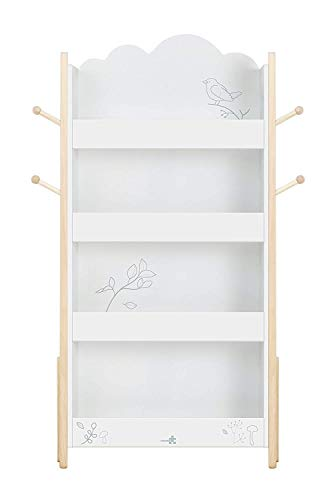 Furniture Boys - labebe Wood White Bookshelf for Kid 1 Year Up, Kid Bookshelf White/Baby Bookshelf/Child Bookshelf/White Bookshelf for Girl&Boy Room/Bookshelf White/Kid Book Rack/Book Display